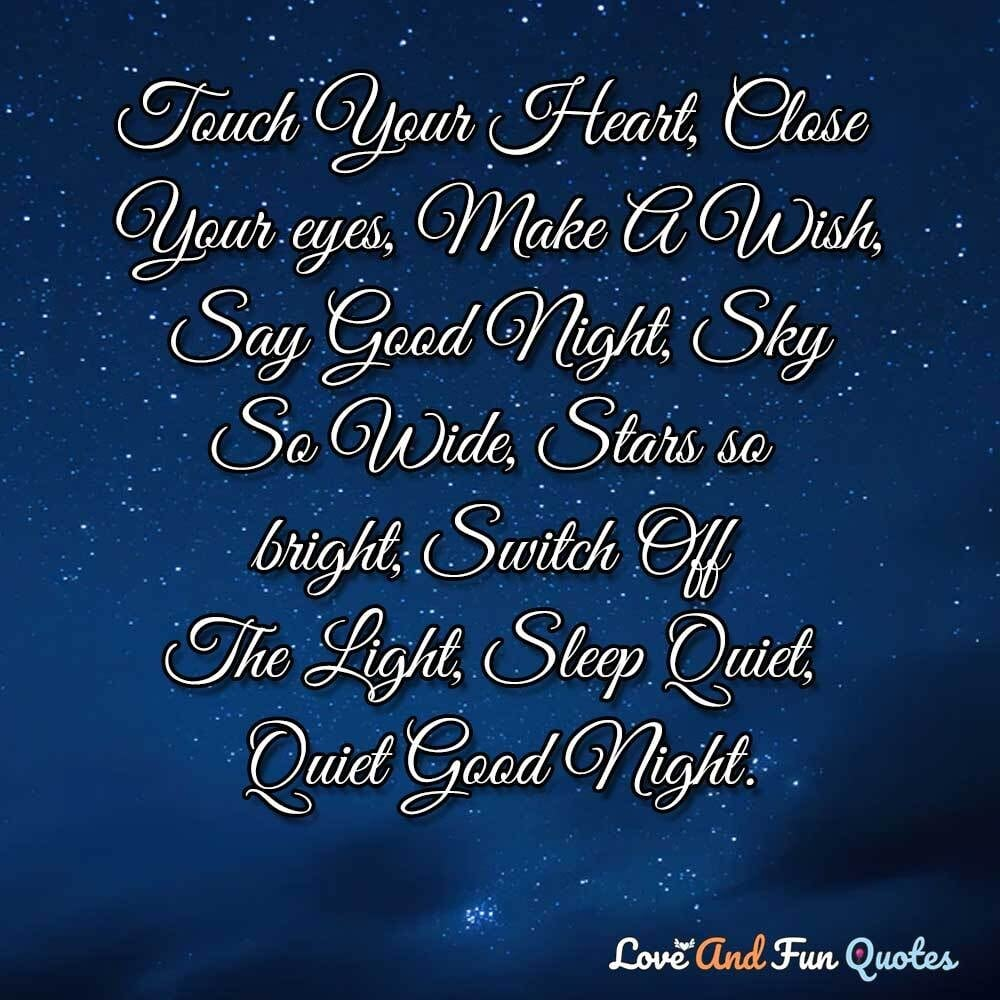 sweet good night messages for love one