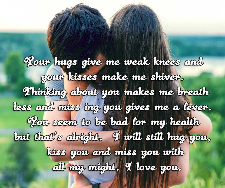 i love you love quotes for him couples hugging and making love with each other