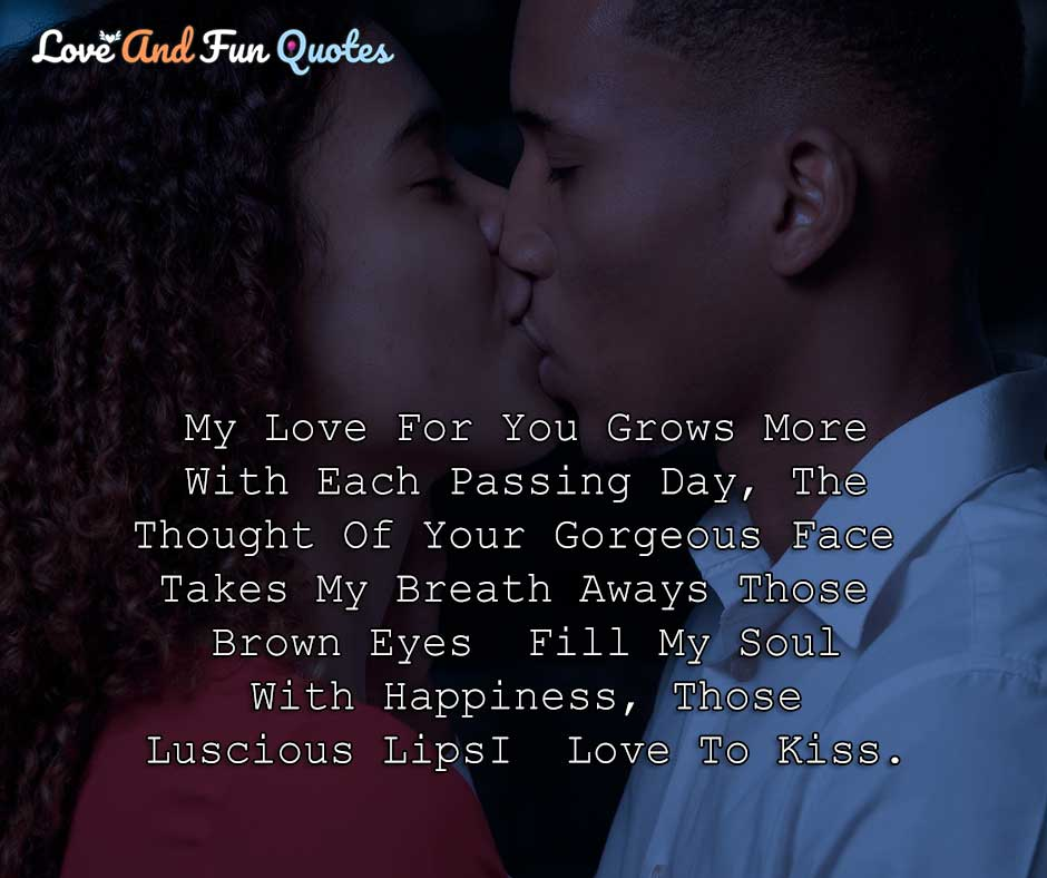 kiss love quotes for him