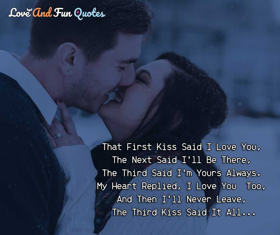 kiss love quotes for her