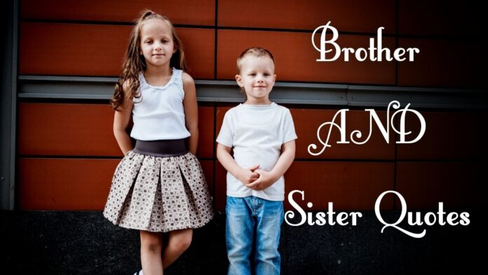 Brother and sister love quotes and sayings