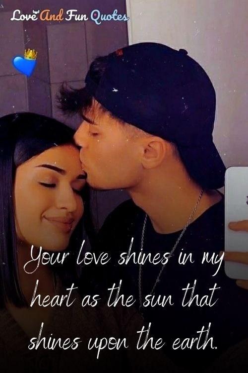 Your love shines in my heart as the sun shines upon the earth.